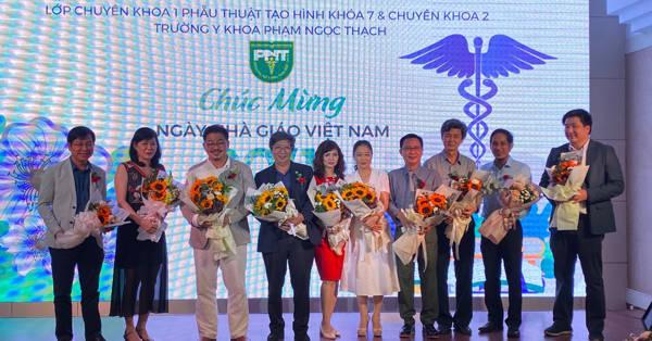 Ts.Bs. Nguyễn Thanh Hải trong buổi tri ân ngày Nhà giáo Việt Nam